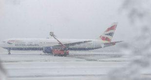 Aena activó en el aeropuerto el plan de invierno ante la llegada de una ola de frío
