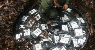La Fuerza Armada Nacional Bolivariana (FANB), decomisando la droga