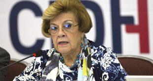 La primera vicepresidenta de la Comisión Interamericana de Derechos Humanos (CIDH), Esmeralda Arosemena.