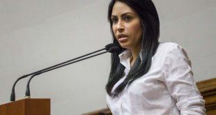 CAR14. CARACAS (VENEZUELA), 15/08/2017.- La diputada de la Asamblea Nacional, Delsa Solorzano, asiste al hemiciclo de sesiones del palacio federal legislativo hoy, martes 15 de agosto de 2017, en Caracas (Venezuela). El Parlamento venezolano, de mayoría opositora, acordó hoy citar al fiscal general, Tarek Saab, para que declare sobre el informe de la ONU en el que se acusa a las autoridades de maltrato sistemático y generalizado a miles de manifestantes y detenciones arbitrarias en los últimos meses. La Asamblea Nacional que no detalló para cuándo fue citado Saab, también acordó transcribir el debate que se realizó sobre el informe de la ONU para que sea añadido a la documentación presentada por la Oficina del Alto Comisionado de las Naciones Unidas. EFE/Miguel Gutiérrez